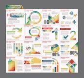 Progettazione variopinta dell'aletta di filatoio dell'opuscolo del modello di presentazione di Infographic Fotografia Stock Libera da Diritti