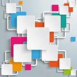 Progettazione variopinta dell'incrocio dei quadrati di rettangoli Fotografia Stock
