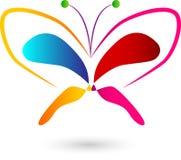 Progettazione variopinta di logo della farfalla immagini stock