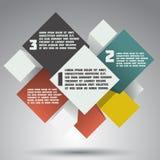 Progettazione variopinta moderna. insegna di opzioni di affari Immagine Stock Libera da Diritti