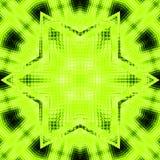 Progettazione verde chiaro dell'insegna della stella del mosaico surreale del fondo con la stella nel centro per testo Immagine Stock