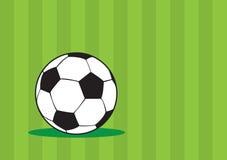 Progettazione verde del fondo di vettore del pallone da calcio Immagini Stock Libere da Diritti