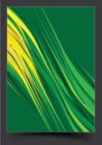 Progettazione verde della copertura dell'opuscolo del modello illustrazione vettoriale
