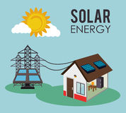 Progettazione verde di energia Fotografia Stock Libera da Diritti