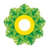 Progettazione verde di saluto della foglia della palma Immagini Stock Libere da Diritti
