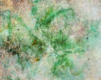 Progettazione verde e bianca astratta del fondo della spruzzata di colore con struttura di lerciume Fotografia Stock Libera da Diritti