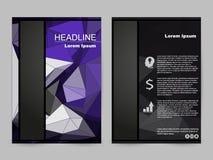Progettazione verde e nera dell'opuscolo Immagini Stock