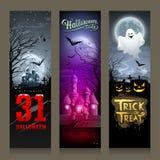 Progettazione verticale di Halloween dell'insegna felice delle collezioni illustrazione vettoriale