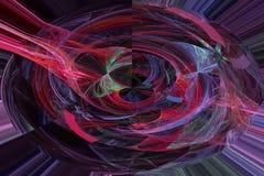 Progettazione vibrante di fantasia di caos di frattale dell'estratto della scintilla di turbinio dell'onda fantastica digitale di illustrazione vettoriale