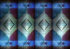 Progettazioni astratte moderne di architettura di riflessioni blu fotografia stock