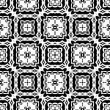 Progettazioni bianche nere di ripetizione di vettore immagine stock