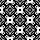 Progettazioni bianche nere di ripetizione di vettore Immagini Stock