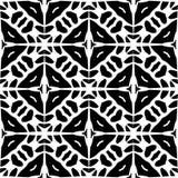 Progettazioni bianche nere di ripetizione di vettore Fotografie Stock