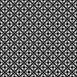 Progettazioni bianche nere di ripetizione di vettore Fotografia Stock
