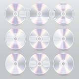 Progettazioni blu della copertura del raggio del vario dvd del CD Fotografia Stock Libera da Diritti