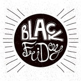 Progettazioni calligrafiche di Black Friday disegno del reehand iscrizione sconti Immagini Stock