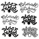 Progettazioni calligrafiche di Black Friday Insieme dell'iscrizione di Black Friday Illustrazione Vettoriale