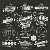Progettazioni calligrafiche di estate Fotografia Stock Libera da Diritti
