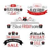 Progettazioni calligrafiche di vendita di Black Friday fissate sopra Immagini Stock Libere da Diritti