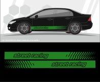 Progettazioni del corredo dei grafici della decalcomania dei veicoli e dell'automobile aspetti per stampare e tagliare per gli au illustrazione vettoriale