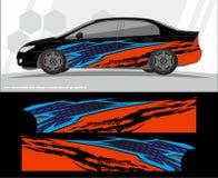 Progettazioni del corredo dei grafici della decalcomania dei veicoli e dell'automobile aspetti per stampare e tagliare per gli au royalty illustrazione gratis