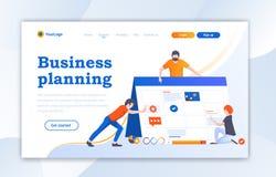 Progettazioni del modello del sito Web della pagina di atterraggio di web design Concetti piani moderni dell'illustrazione di vet illustrazione di stock