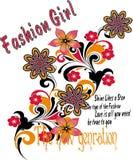 Progettazioni della maglietta delle ragazze, fondo astratto royalty illustrazione gratis