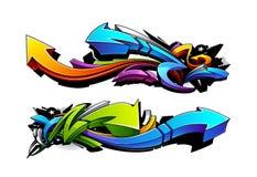 Progettazioni delle frecce dei graffiti Fotografia Stock