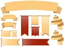 Progettazioni differenti delle insegne illustrazione di stock