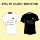 Progettazioni grafiche della maglietta di slogan con cuore Progettazione della maglietta che voi ama eps10 illustrazione vettoriale