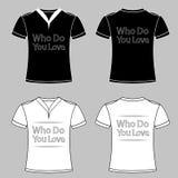 Progettazioni grafiche della maglietta di slogan con cuore Progettazione della maglietta che voi ama eps10 royalty illustrazione gratis