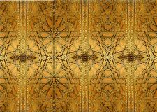 Progettazioni orientali ed ornamenti del ferro La pittura descrive i modelli orientali sulla porta del ferro Immagine Stock