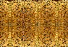 Progettazioni orientali ed ornamenti del ferro La pittura descrive i modelli orientali sulla porta del ferro immagini stock