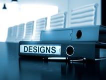 Progettazioni sulla cartella dell'ufficio Immagine tonificata 3d Fotografia Stock Libera da Diritti