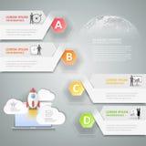 Progetti i punti infographic del modello 4 per il concetto di affari Immagini Stock