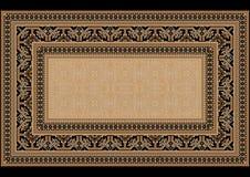Progetti il tappeto con l'ornamento etnico sui lati e sul centro monofonico Fotografie Stock