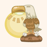 Progetti il vettore degli elementi di tema di stile della lampada dell'aquila, ENV Fotografia Stock