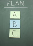 Progetti A, la B, o la C Fotografie Stock Libere da Diritti