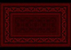 Progetti la coperta con il confine luminoso nel rosso e nelle tonalità di Borgogna Fotografia Stock Libera da Diritti
