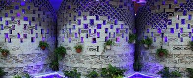 Progetti la parete esterna di un ristorante Immagine Stock