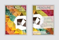 Progetti per il manifesto della rivista dell'aletta di filatoio dell'opuscolo della copertura in A4 Immagine Stock