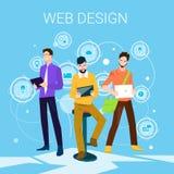 Progettista Business People Team Working di web illustrazione vettoriale