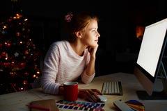 Progettista dal computer immagine stock libera da diritti