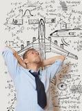 Progettista dell'aeroplano immagine stock libera da diritti