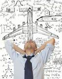 Progettista dell'aeroplano fotografie stock