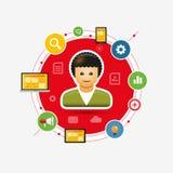 Progettista di web Immagine Stock