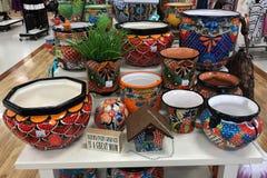 Progettista Flower Pots fotografia stock libera da diritti