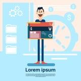 Progettista Graphic Design Background di web dell'uomo illustrazione di stock