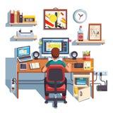 Progettista professionista che lavora ad un progetto del sito royalty illustrazione gratis