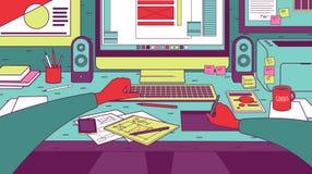 Progettista sul lavoro Immagini Stock Libere da Diritti